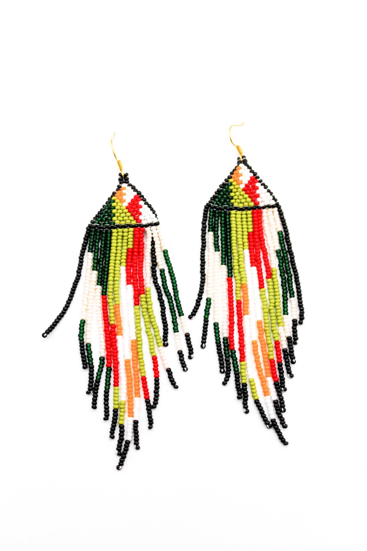 Camo beaded earrings