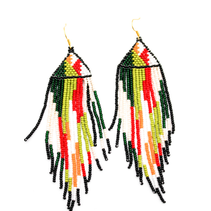 Camo beaded earrings