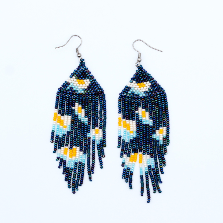 beaded-earrings-water-lilies