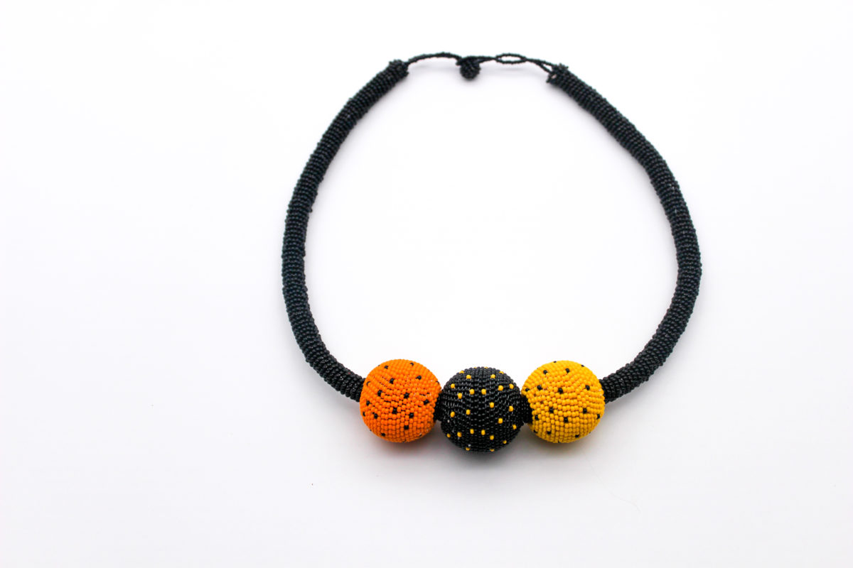 bobble-beaded-necklace-orange
