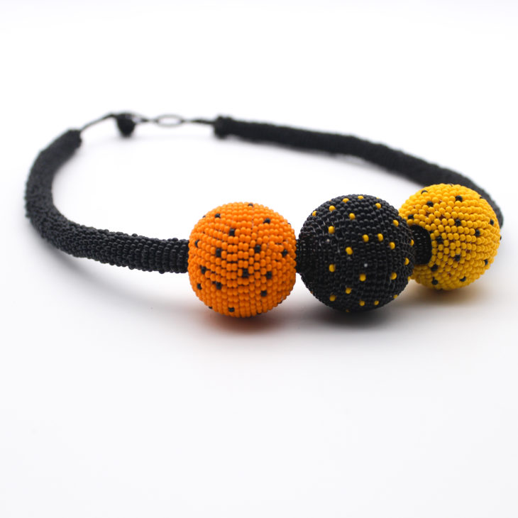 bobble necklace-orange