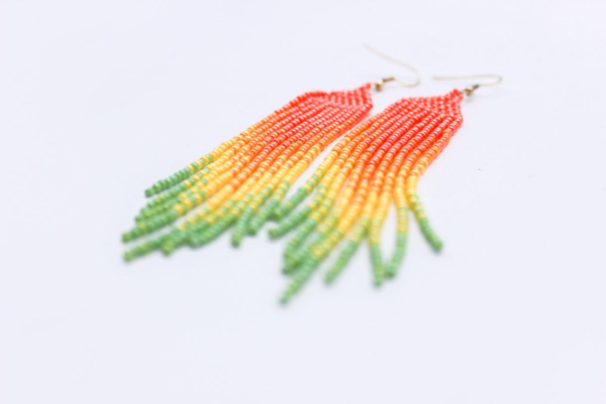 tassel earrings tutti fruiti