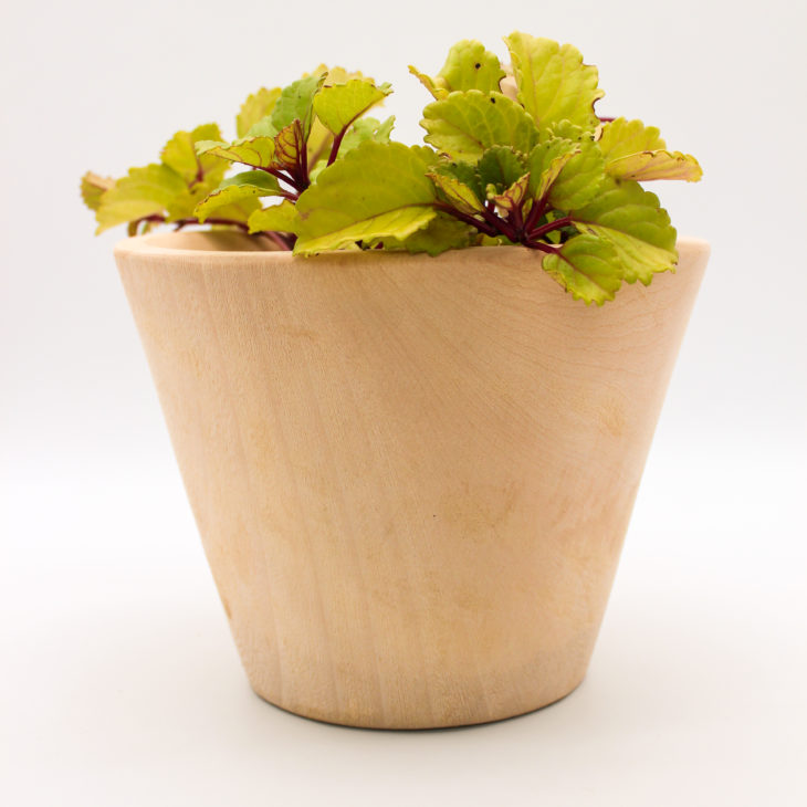 wood pot plant holder