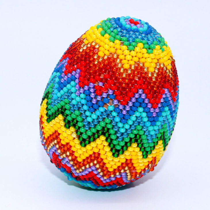 beaded easter egg kaleidoscope