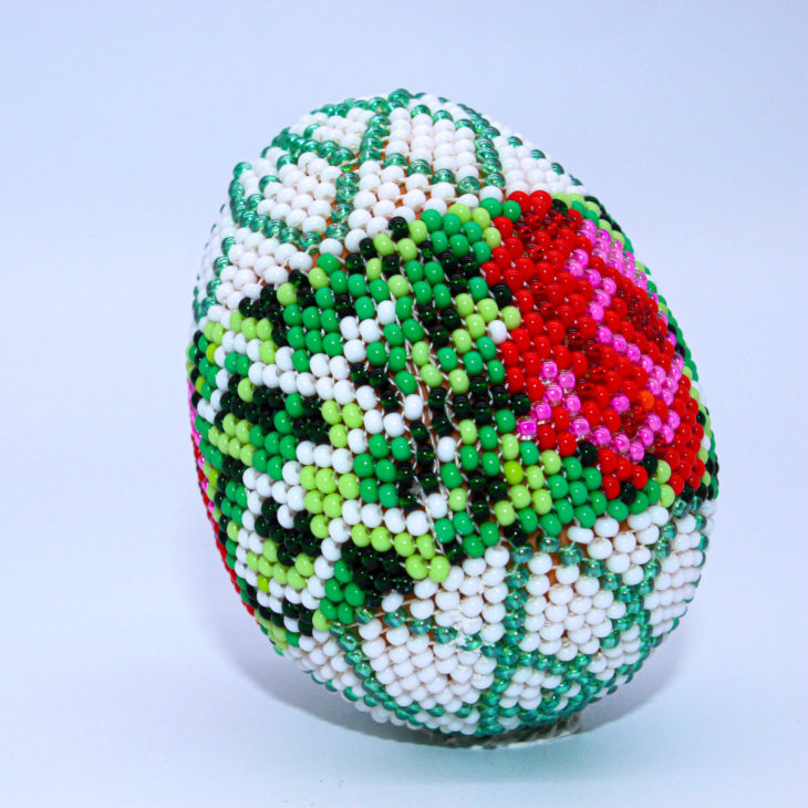 beaded egg floral